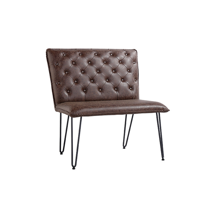 Studded Back Bench with Hair Pin Legs.
