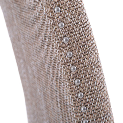 Studded Dining Chair with Tweed Fabric (Sold in Pairs)