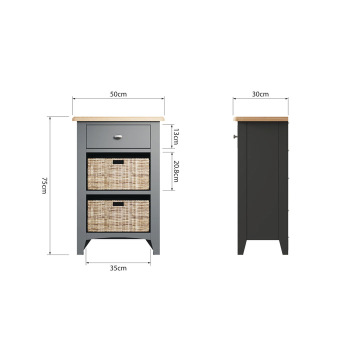 Gillamoor 1 Drawer, 2 Basket Unit