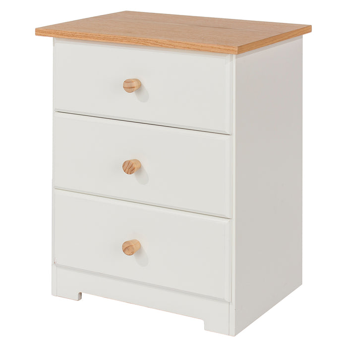 Colorado Three Drawer Bedside Cabinet