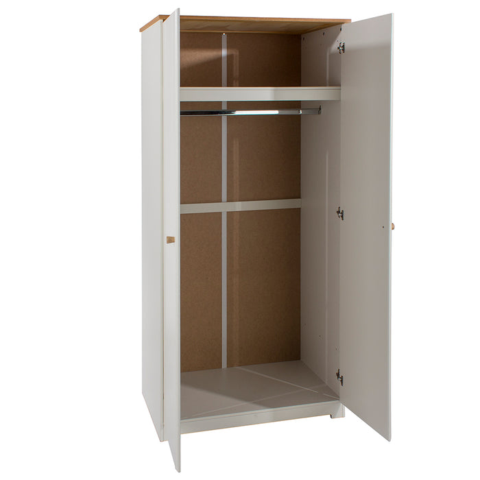 Colorado Two Door Wardrobe (with hanging rail & shelf)