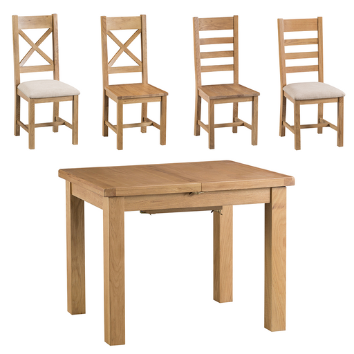 Old Malton Butterfly Extending Table with Six Chairs
