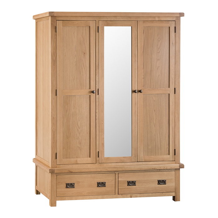 Old Malton Two Door Wardrobe with Mirror