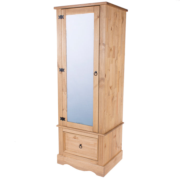 Corona Armoire with Mirrored Door (with hanging rail)