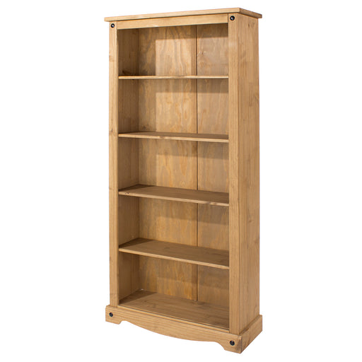 Corona Tall Bookcase (with one fixed & three adjustable shelves)