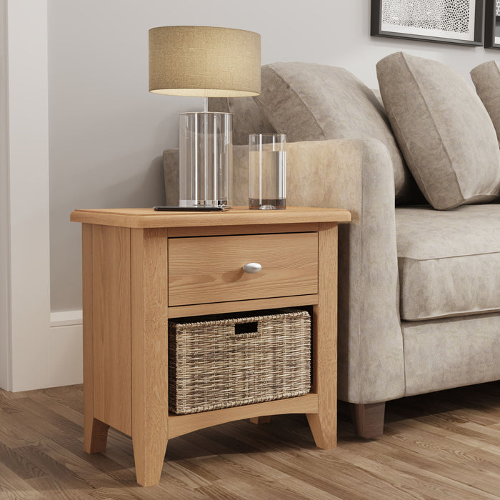 Gillamoor Wood 1 Drawer, 1 Basket Unit