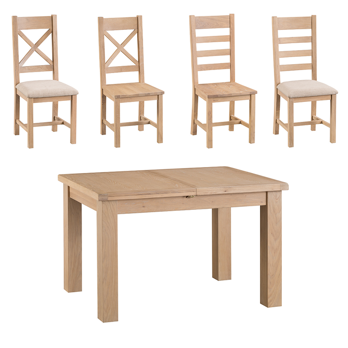 Old Malton Butterfly Extending Table with Four Chairs