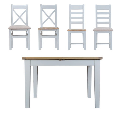 Terrington Butterfly Extending Table and Four Chairs