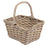 Wicker Square Flower Basket with High Handle