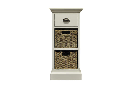Wicker One Drawer Two Basket Unit