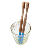 NEW Natural Bamboo Toothbrush Small Soft Head Round Blue Bamboo Material Handle Soft Bristle Toothbrush