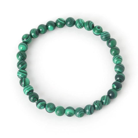 Bracelet en pierre de malachite 6mm