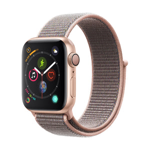 Apple Watch S4 Gold Aluminum w/ Sport Loop (Pink Sand)