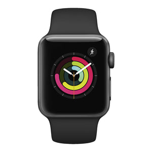 Apple Watch S3 Space Gray Aluminum w/ Sport Band (Black)