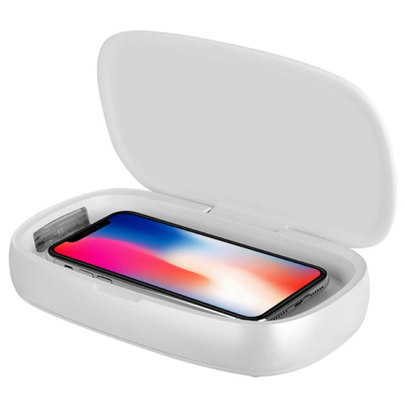 Momax Q.UV Box / Wireless Charging Base (White)