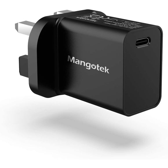 Mangotek USB-C PD 18W UK Wall Charger