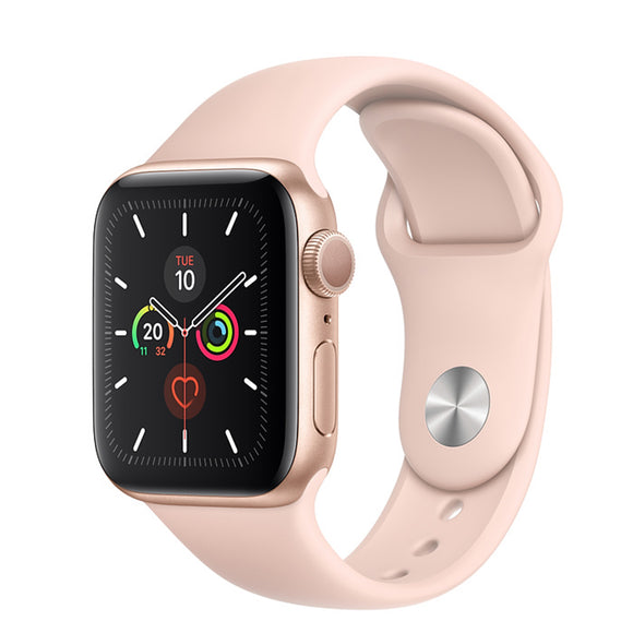 Apple Watch S5 GPS Gold Aluminum w/ Sport Band (Pink Sand)