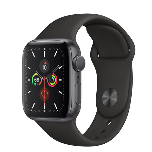 Apple Watch S5 GPS Space Gray Aluminum w/ Sport Band (Black)