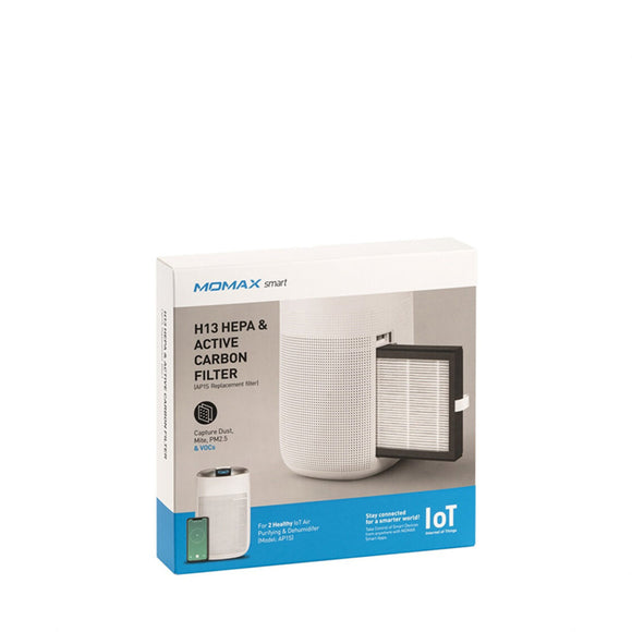 Momax AP1S 2Healthy IoT Air Purifying & Dehumidifier - HEPA Filters