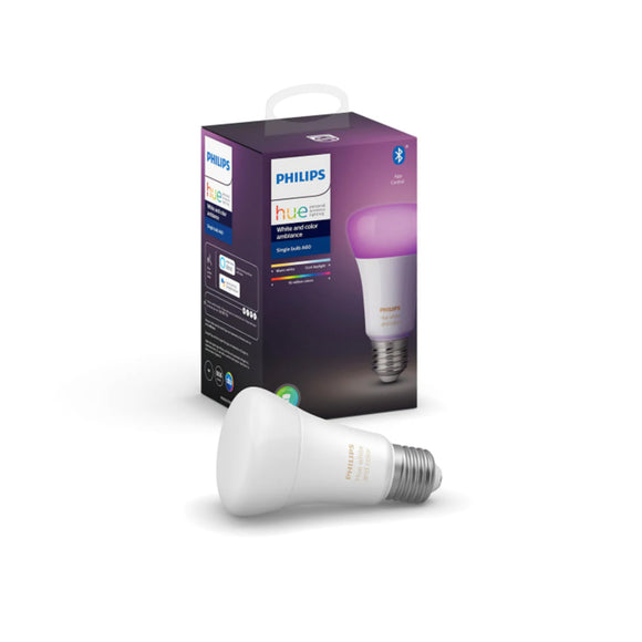 Philips Hue White and Color Ambiance Single Bulb 9W (A60 E27)