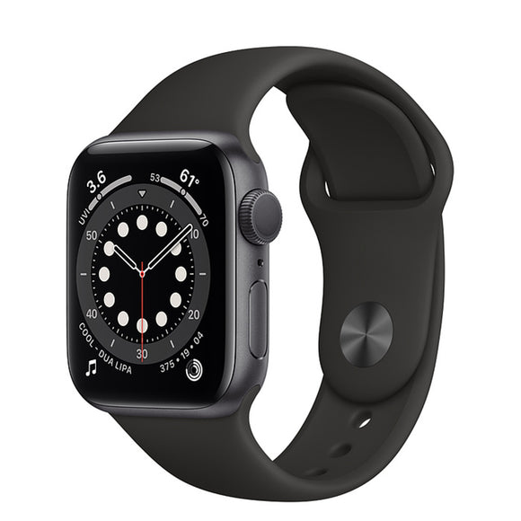 Apple Watch S6 GPS Space Gray Aluminum w/ Sport Band (Black)