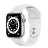 Apple Watch S6 GPS Silver Aluminum w/ Sport Band (White)