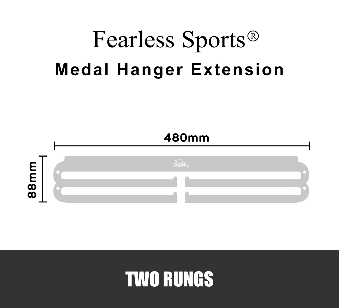 Fearless Sports Two Rungs Medal Hanger Medal Display Extension … - Fearless Sports