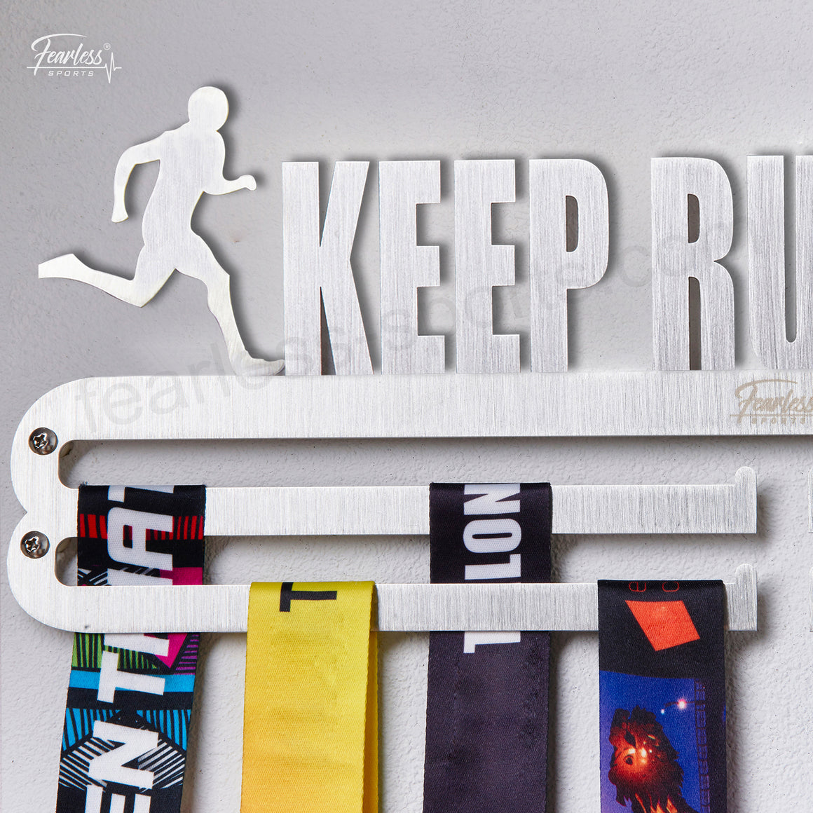 Keep Rumming Man Stainless Steel Medal Display Hanger ITM./ART.5174 - Fearless Sports