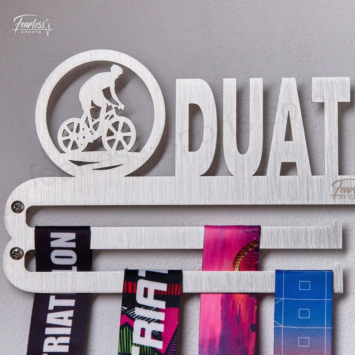 Duathlon Stainless Steel Medal Display Hanger ITM./ART.5180 - Fearless Sports
