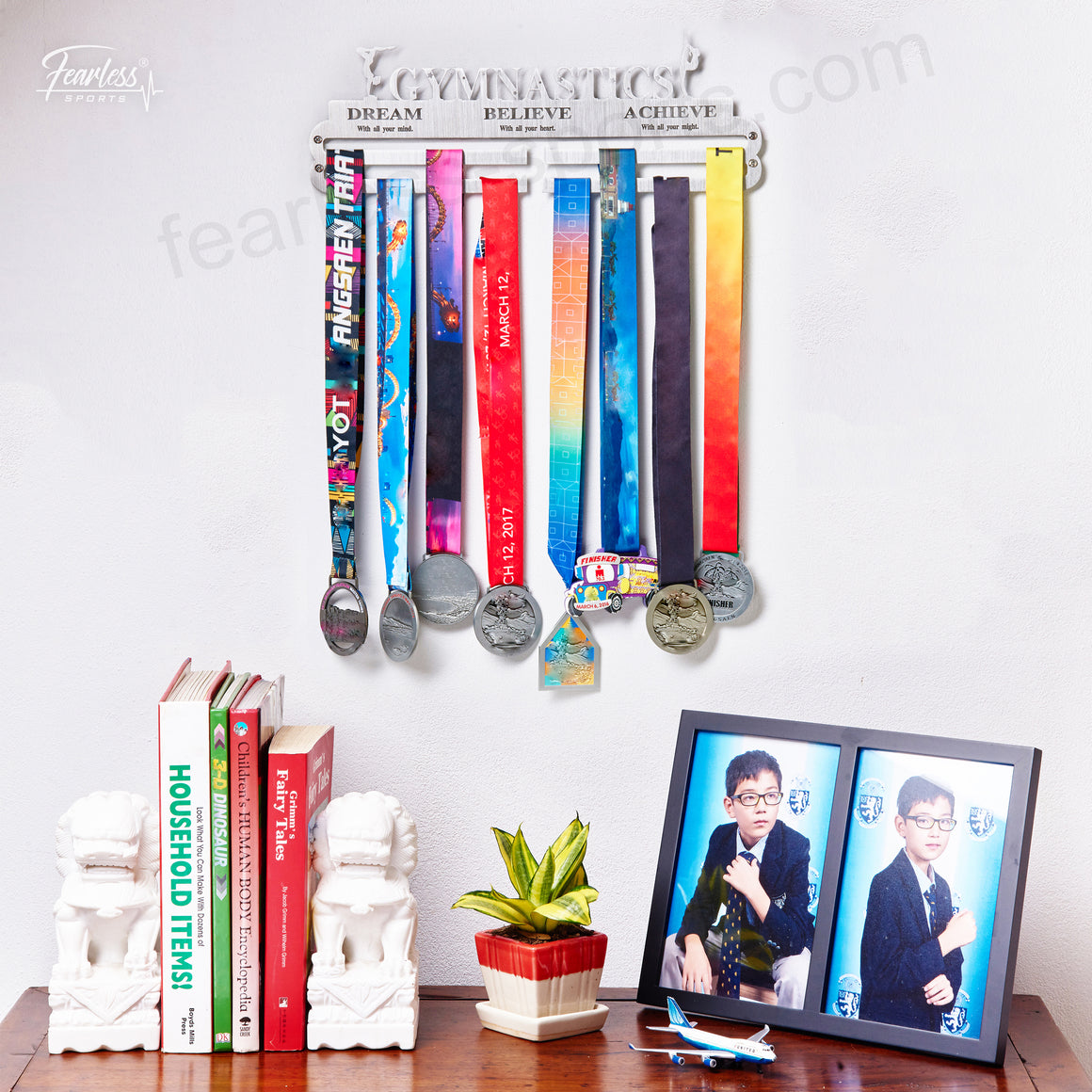 Gymnastics Girl Stainless Steel Sport Medal Display Hanger Medal Organizer ITM./ART.5187 - Fearless Sports