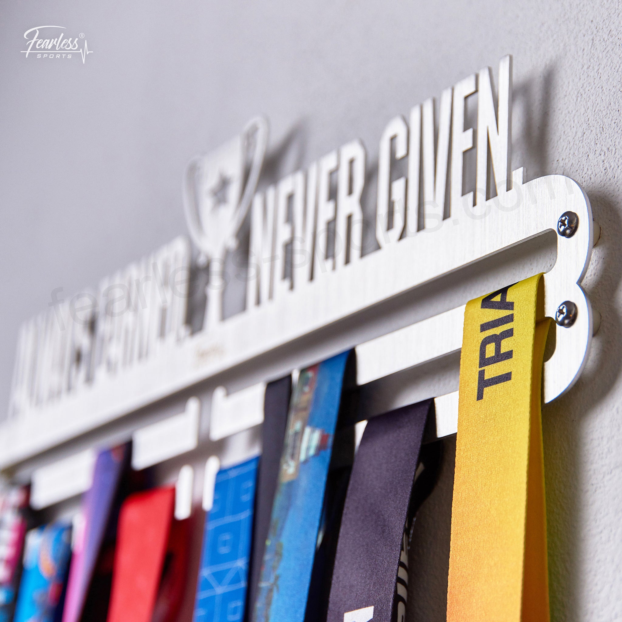 Always Earned Never Given Medal Display Hanger Holderrack With