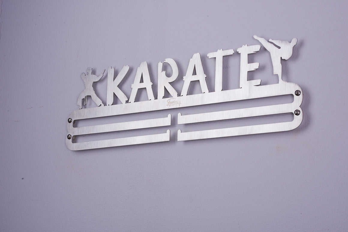 Karate Stainless Steel Medal Display Hanger ITM./ART.5228 - Fearless Sports