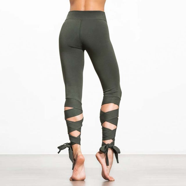 Legging en finition bandage