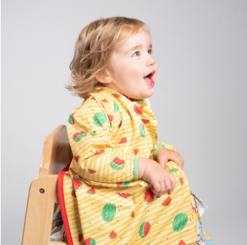 BIBaDO Coverall Highchair Bib Sunshine Yellow