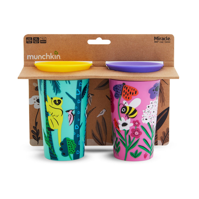 2PK Ποτηράκια εκπαιδευτικά Miracle 360˚ Sippy Cup Lemur/Bee
