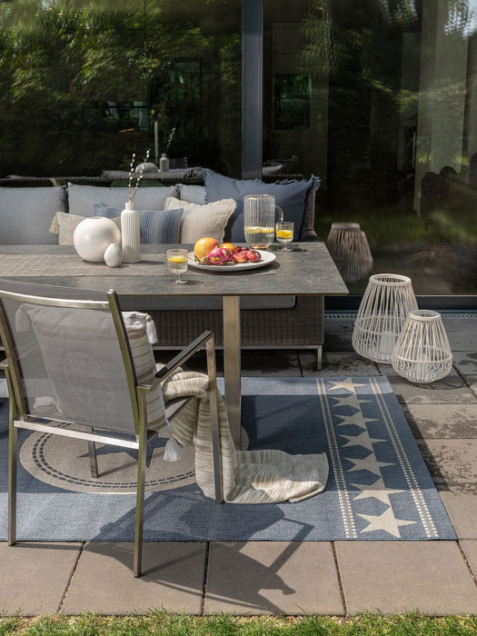 In & Outdoor Rug Metro Blue
