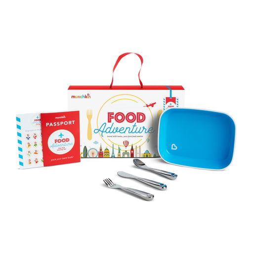Munchkin Food Adventure Big Kid Dining Set Blue