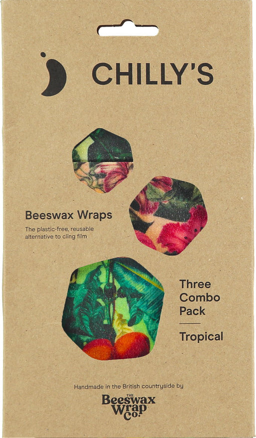 Chillys Beeswax Wrap 3 Pack Tropical
