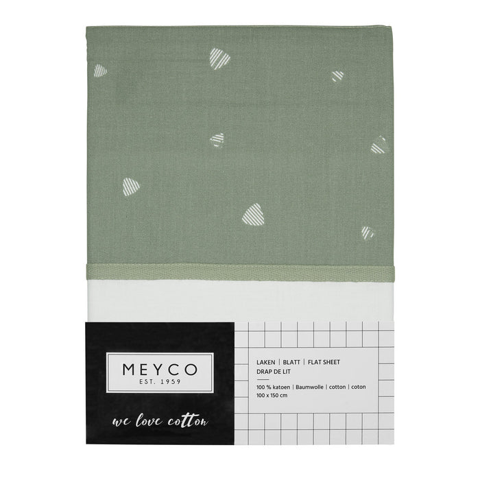 Meyco Σεντόνι 100x150 cm Triangle Forest Green