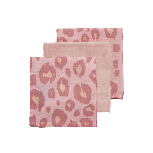 Meyco Face Cloths 3τμχ 30x30 cm Panther Pink/Light Pink