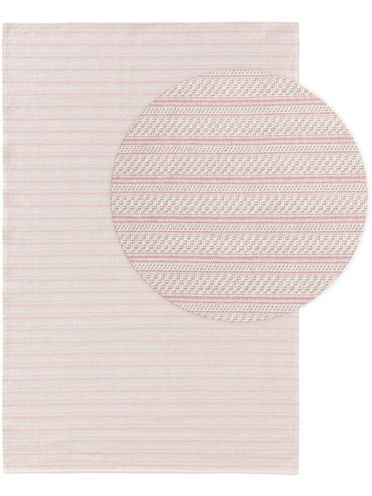 Cotton Rug Cooper Rose Lines