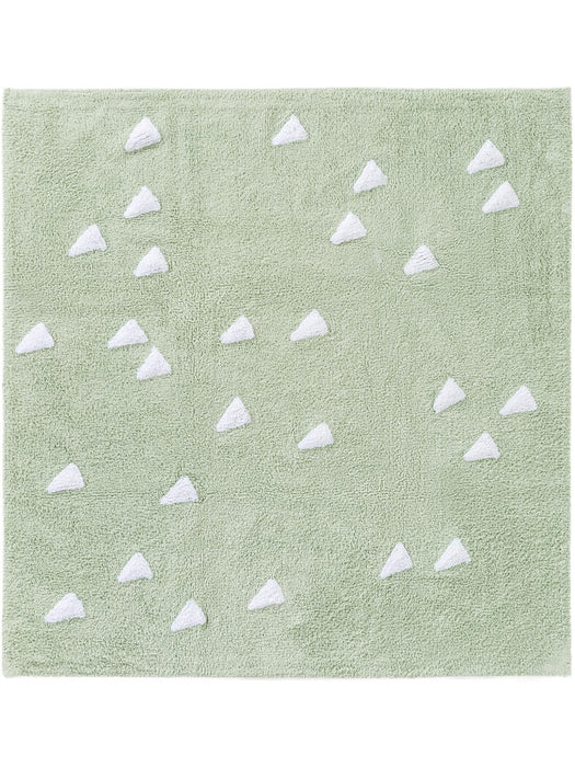 Inka Triangles Kids Rug Light Green