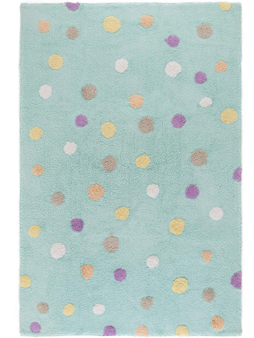 Bambini Dots Kids Rug Abstract Turquoise