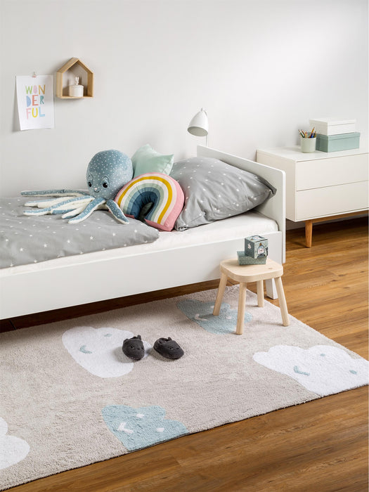 Bambini Clouds Kids Rug Blue