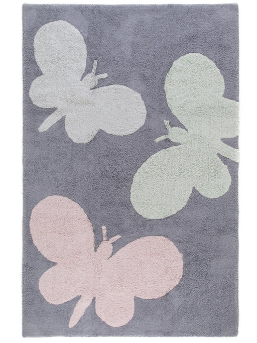 Bambini Butterflies Kids Rug Grey