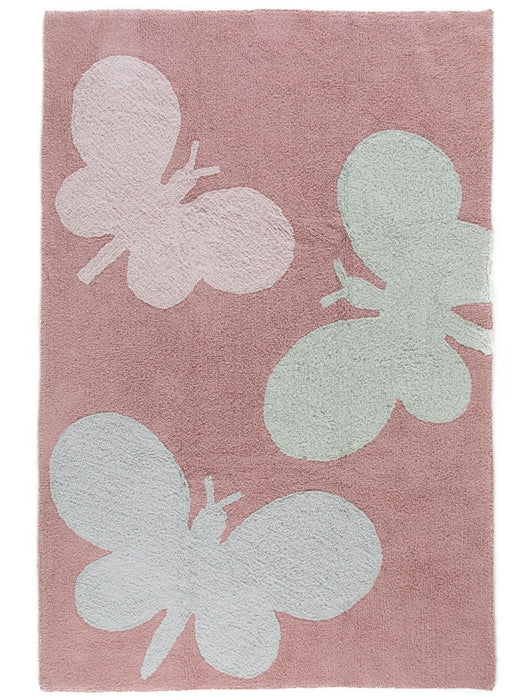 Bambini Butterflies Kids Rug Rose