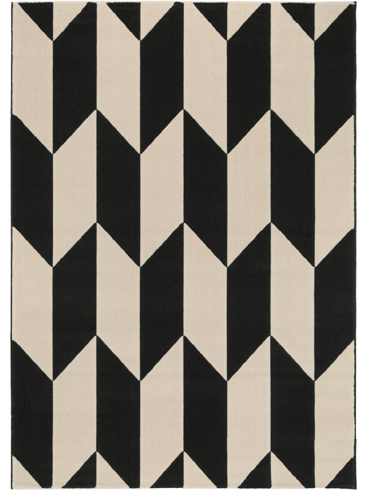 Dessert Chevron Rug Black/White