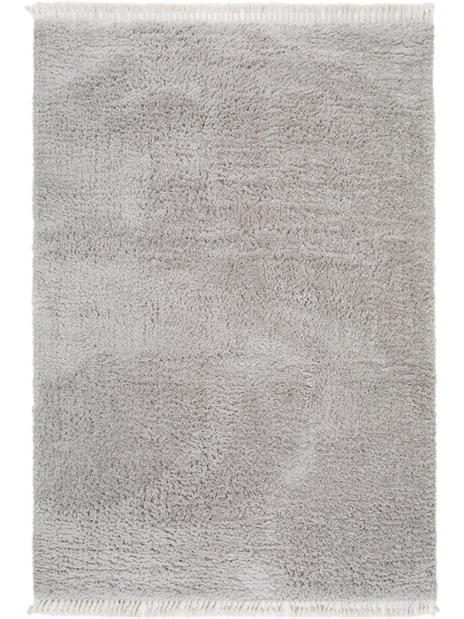 Ava Shaggy Essentials Rug Light Grey