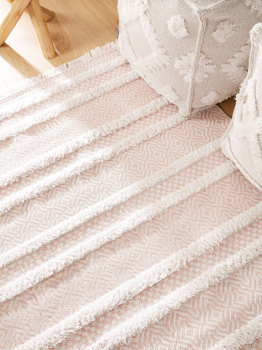 Cotton Rug Oslo Rose Lines