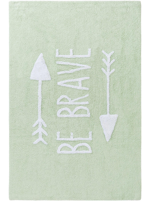 Inka Kids Rug Be Brave Light Green